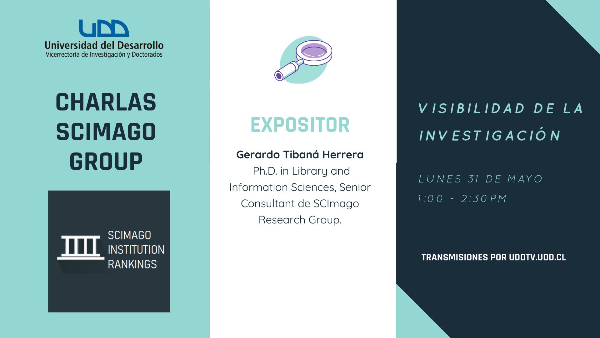 Charlas Scimago Group | Visibilidad de la Investigación - UDDTV